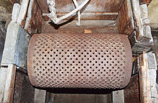 Old grater ancient work tool stock photo