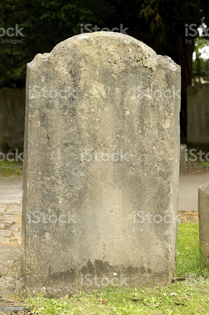 Old Grave Headstone stock photo