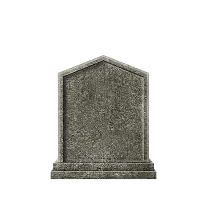 old grave isolated on white background 3d illustration