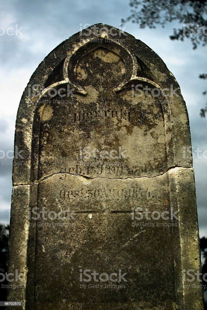 Old Gravestone royalty-free stock photo