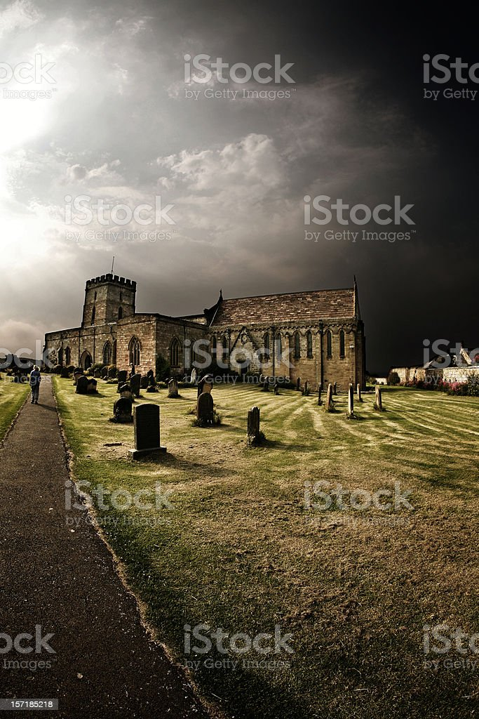 Old Graveyard and Church in England royalty-free stock photo