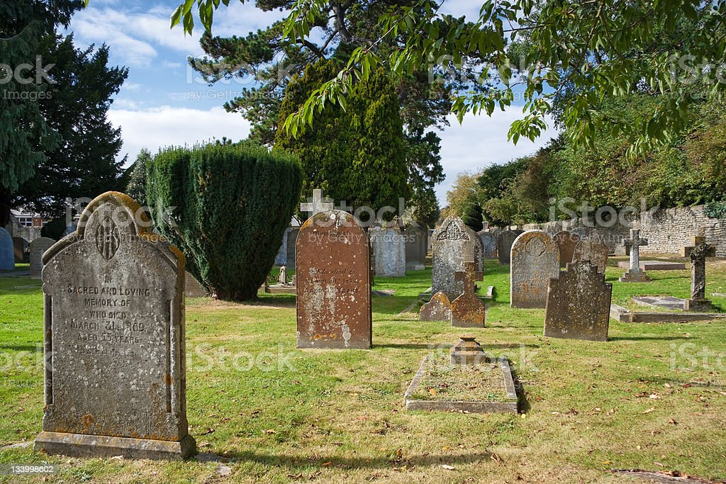 Old graveyard. Bicester, England stock photo