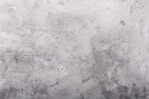 Old gray painted concrete rustic background, horizontal orientation, top view