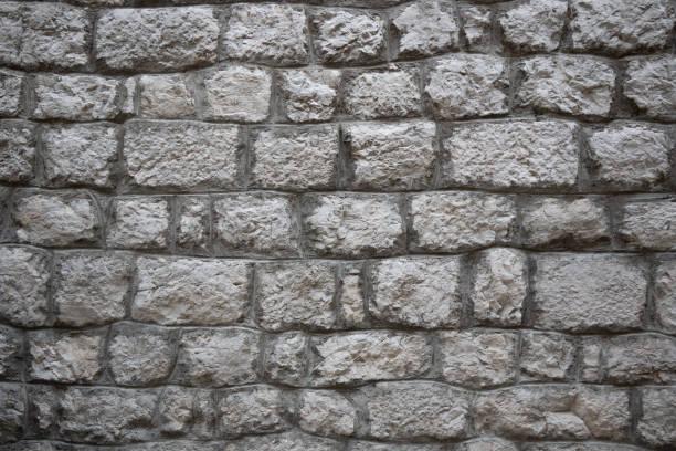Alte graue Steinmauer in Kroatien – Foto