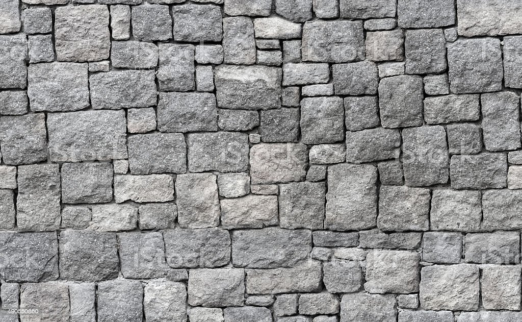 Paper Stone Walls : Old gray stone wall seamless background texture stock