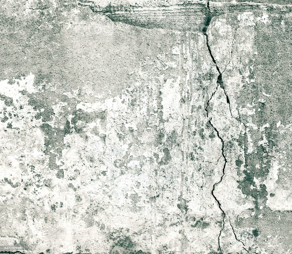 Concrete  Concrete Wall  Stone Material  Wall   Building Feature  Abstract   Old gray white cracked wall dark texture. Old Gray White Cracked Wall Dark Texture Background stock photo