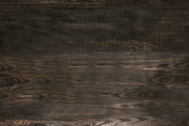 old gray wooden background top view - dark wood texture stock photos and pictures