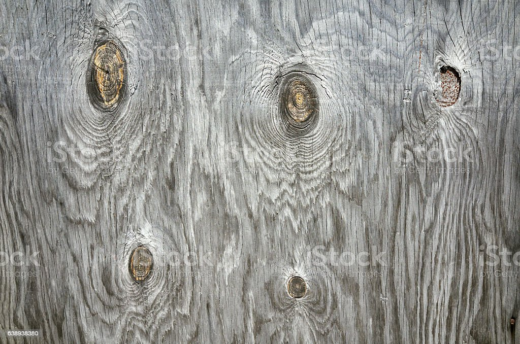 Old gray wooden plywood plank texture background wall, full frame stock photo