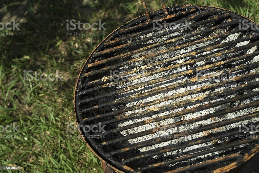 Old greasy dirty grill stock photo