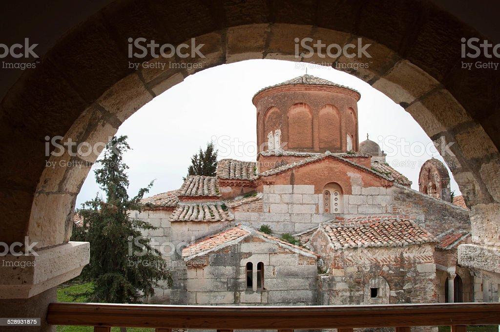 old greek church in Apollonia stock photo