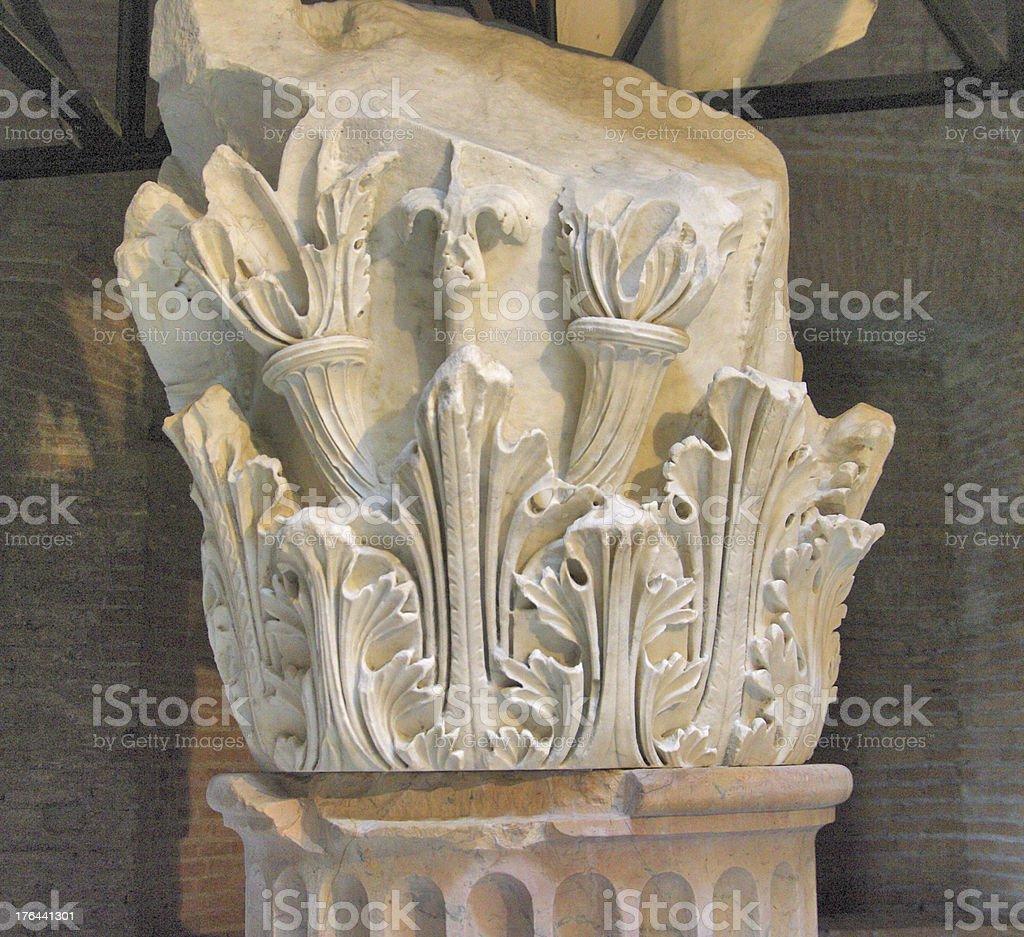 Old greek column royalty-free stock photo