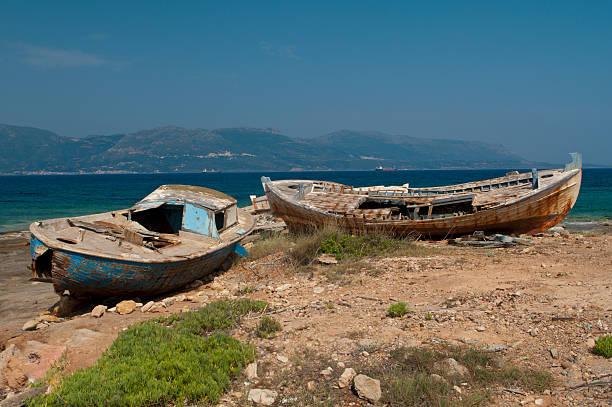 Alte griechische Fischerboote – Foto