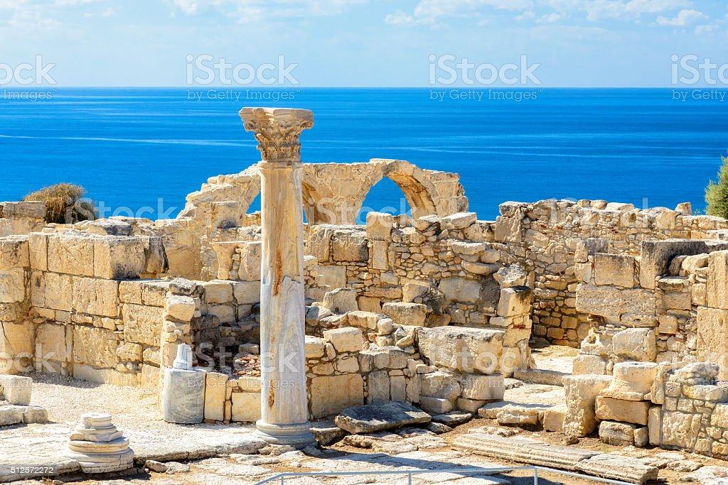 Old greek ruins city of Kourion near Limassol, Cyprus
