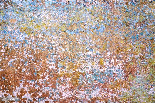 94372741 istock photo Old green blue red painted wall texture background 544120794