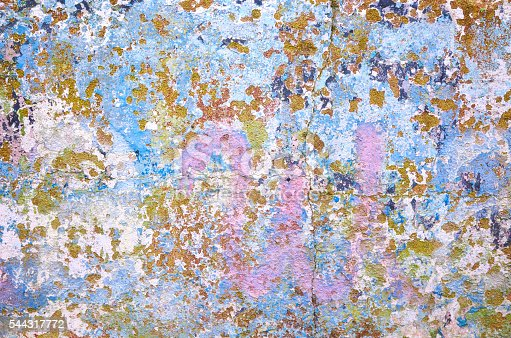 94372741 istock photo Old green blue red painted wall texture background 544317772