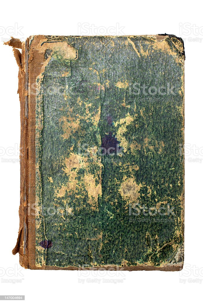 Old green book cover royalty-free stock photo