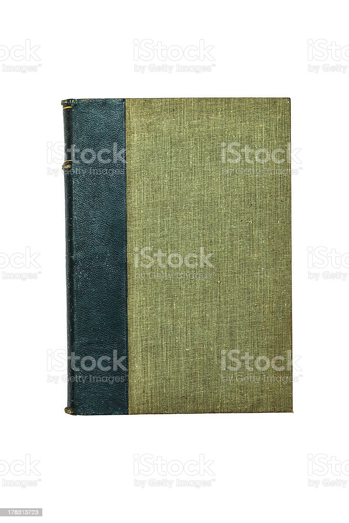 Old green book isolated on white royalty-free stock photo