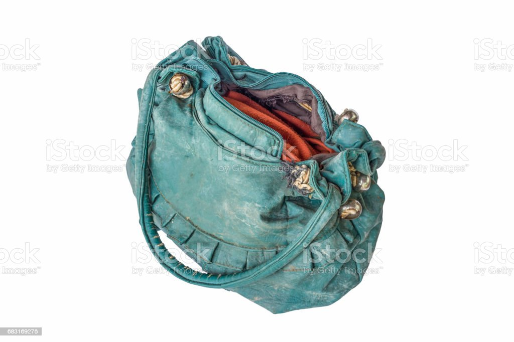 old green handbag 免版稅 stock photo