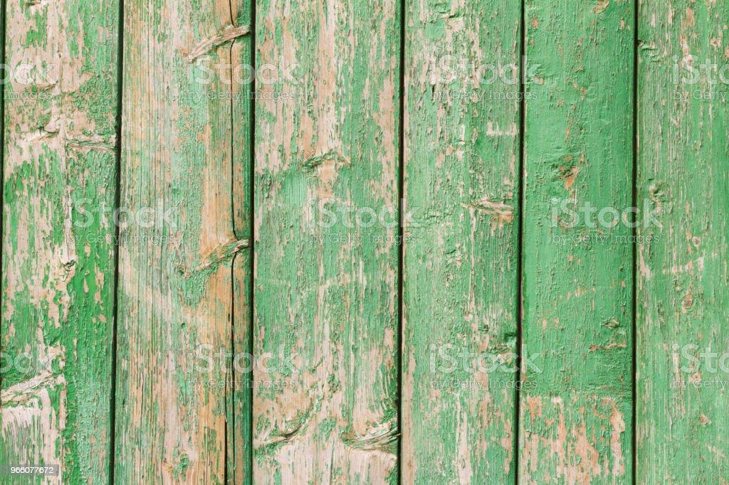 Alte bemalte Wand aus Holz Grün - Lizenzfrei Abstrakt Stock-Foto