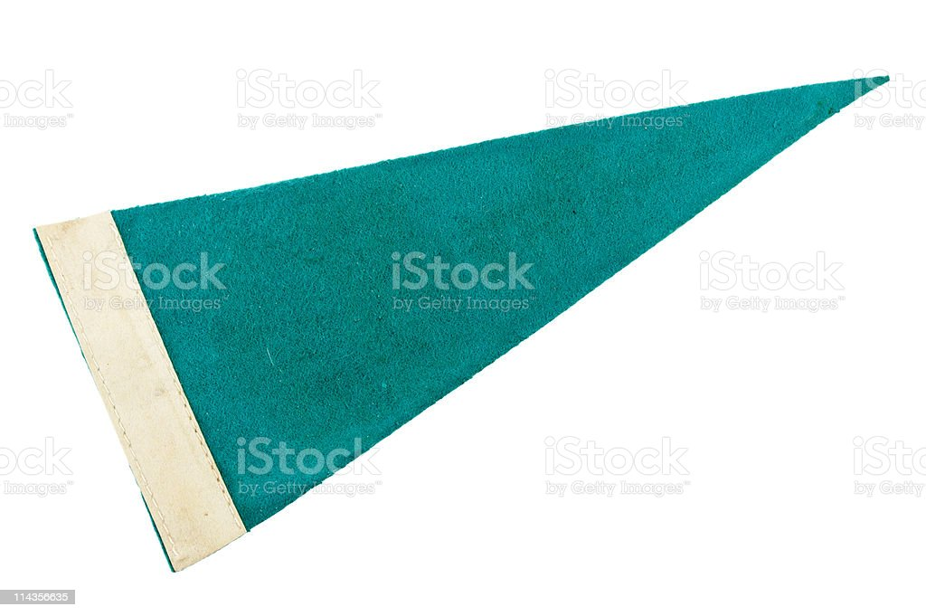 Old Green Pennant royalty-free stock photo