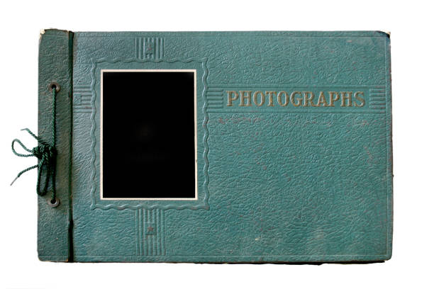 Old Green Photo Album stock photo