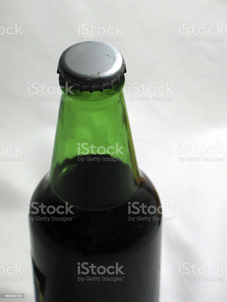 Old Green Soda Bottle stock photo