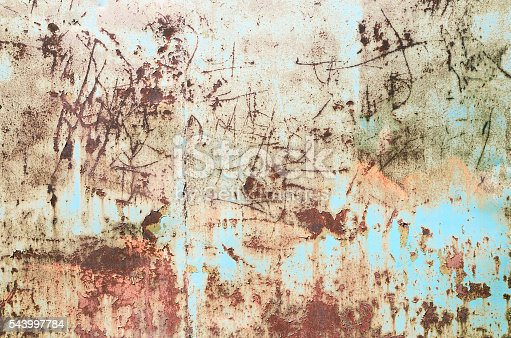 94372741 istock photo Old green turquoise painted wall texture background 543997784