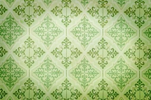 istock Old green wallpaper 891433432