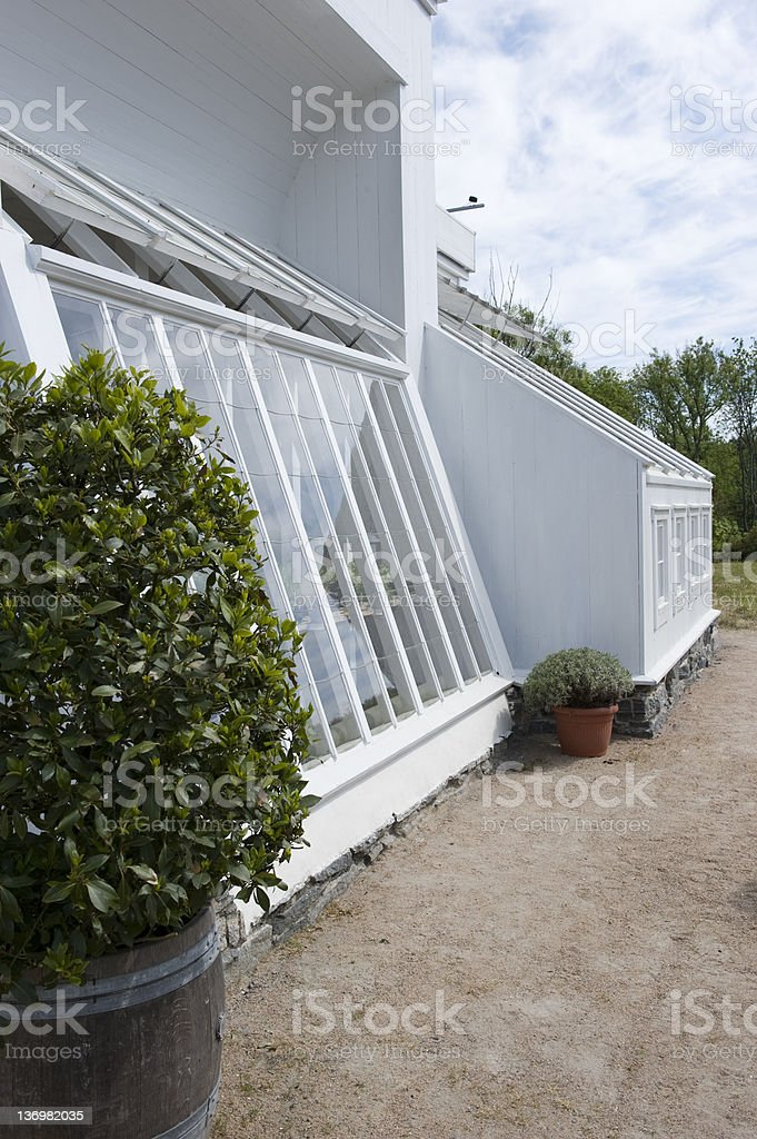 Old greenhouse royalty-free stock photo