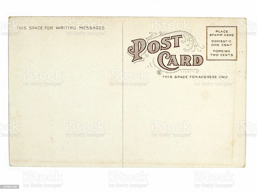 Old greeting card from USA royalty-free stock photo