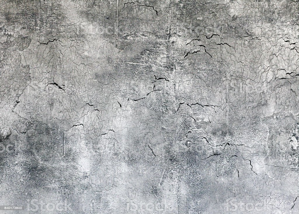 Old Grey Textured Wall With Cracks Background Closeup Stock Photo Download Image Now