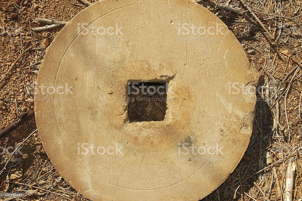Old Grinding Wheel stock photo