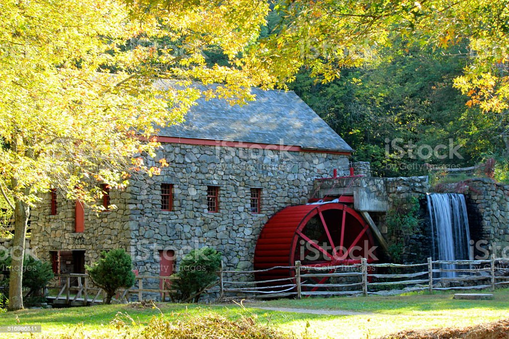 Old Grist Mill stock photo