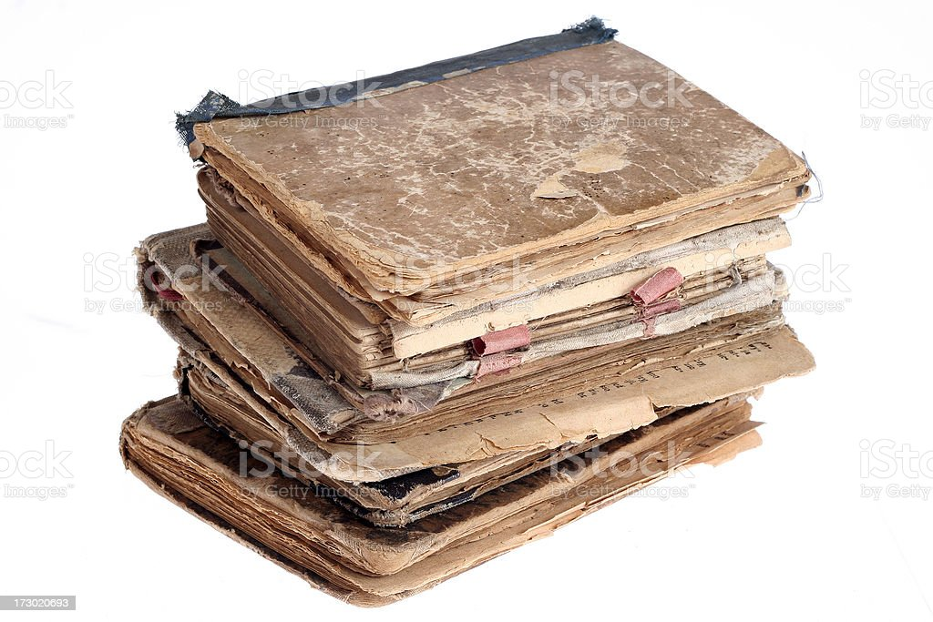 Old group book, royalty-free stock photo