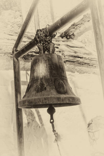 Old grunge bell stock photo