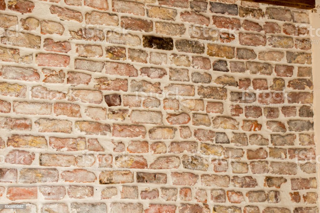Old grunge brick wall background stock photo
