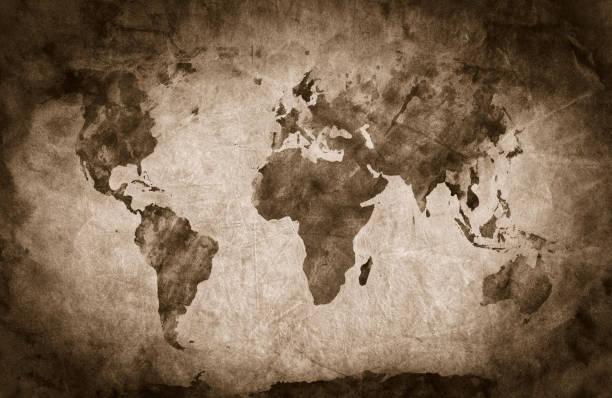 ancient world map stock photos