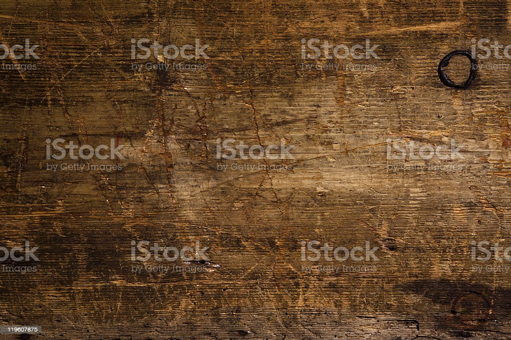 Old grunge dark textured wood background stock photo