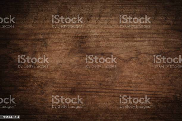 Photo of Old grunge dark textured wooden background,The surface of the old brown wood texture