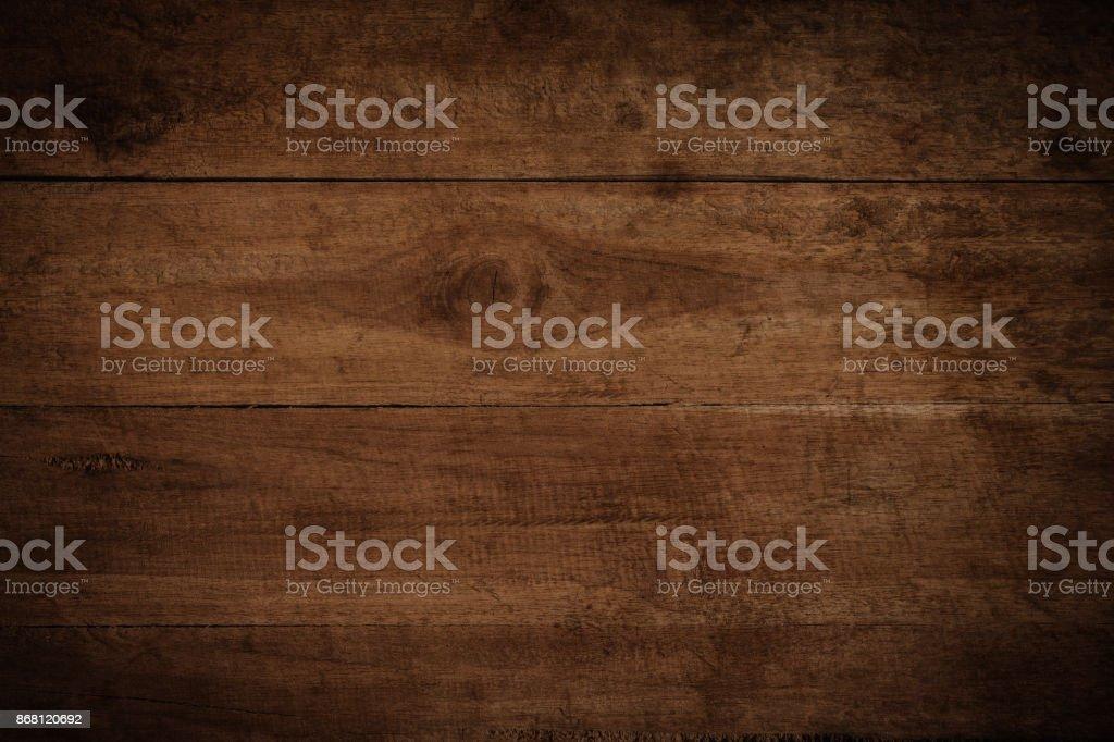 Vieux grunge sombre texture fond en bois, la surface de la texture de bois brune vieux - Photo
