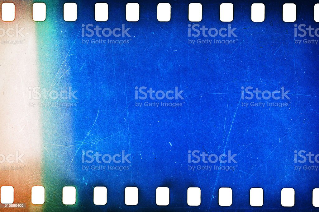 Old grunge filmstrip stock photo