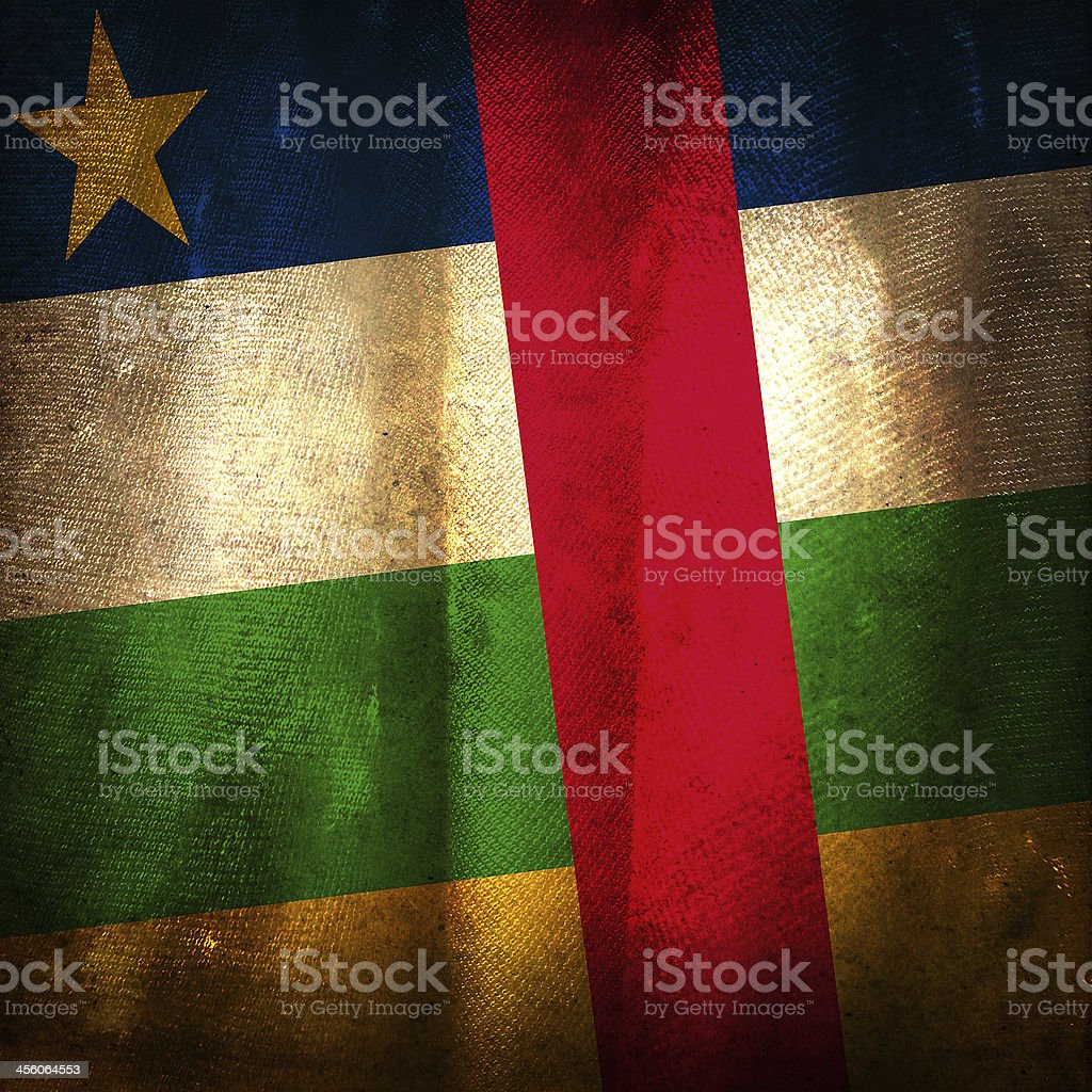 Old grunge flag of Central African republic stock photo