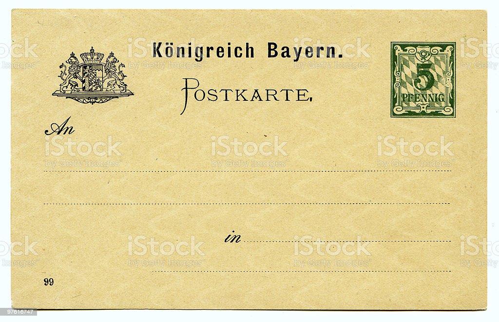 Old grunge German postcard royaltyfri bildbanksbilder