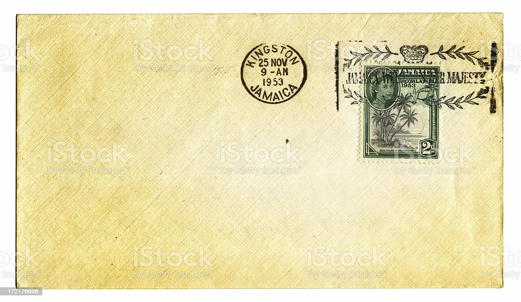 Old Grunge Letter royalty-free stock photo