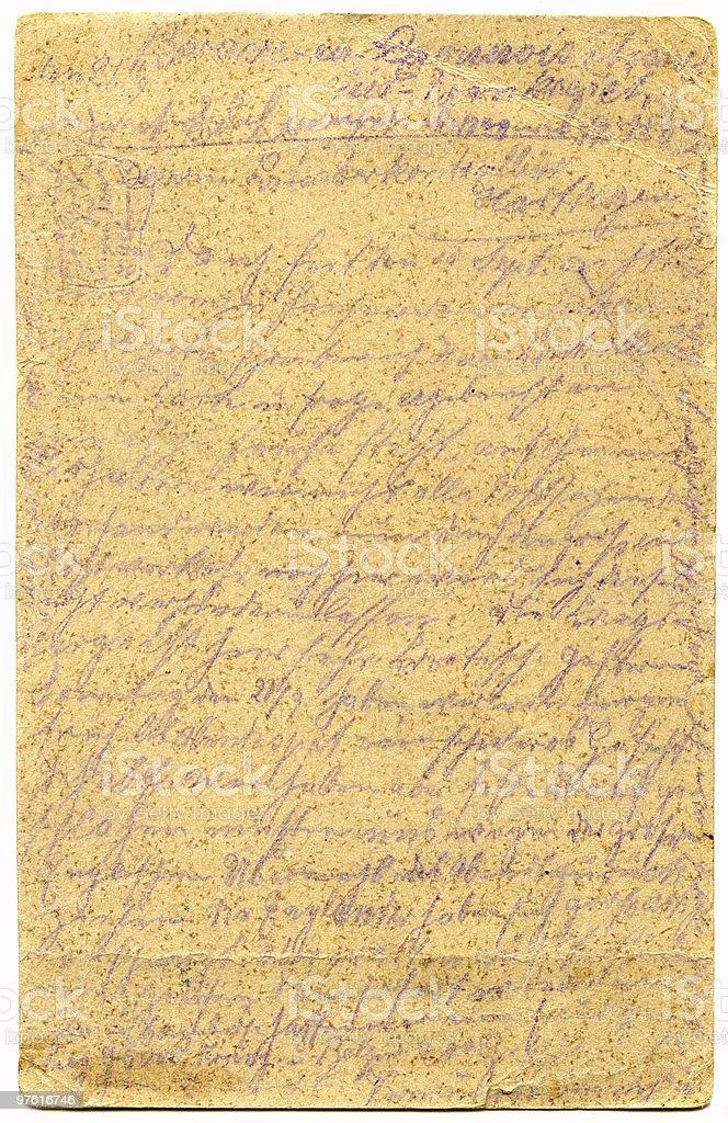 Vieux grunge lettre photo libre de droits