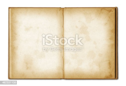istock old grunge open notebook 462331105