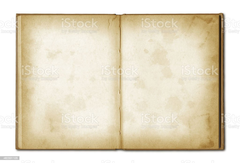 old grunge open notebook stock photo