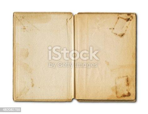155277575istockphoto old grunge open notebook 482082755