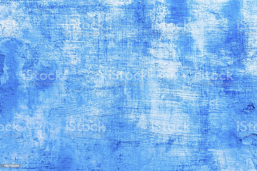 Old Grunge Painted Blue Wall, Texture Background royalty-free stock photo