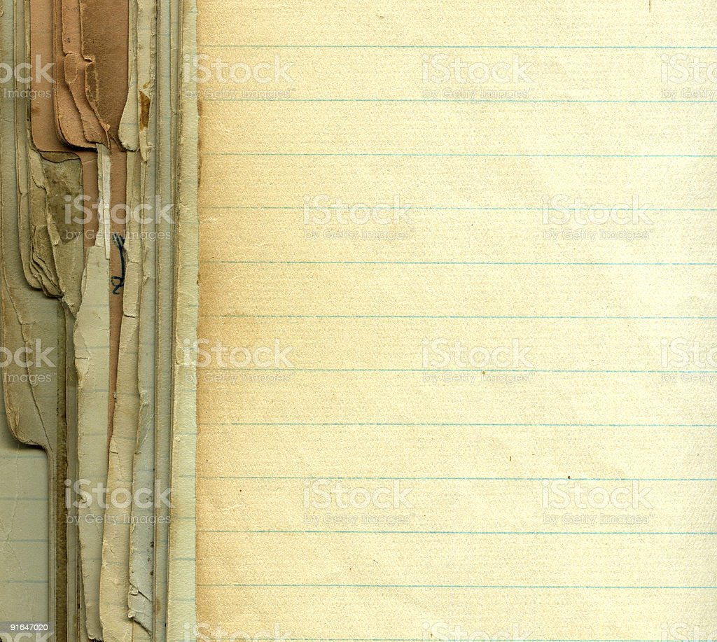 Old grunge paper with lines royalty-free stock photo